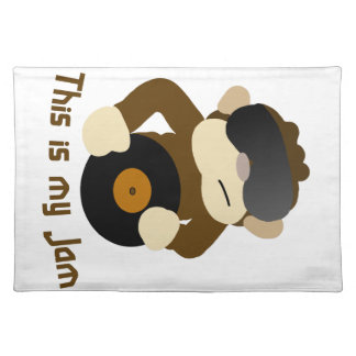 This is my jam, Monkey Cloth Placemat