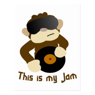 This is my jam, Monkey Postcard