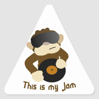 This is my jam, Monkey Triangle Sticker
