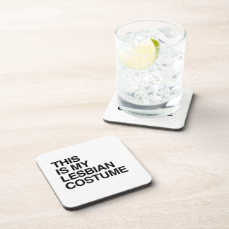 THIS IS MY LESBIAN COSTUME DRINK COASTERS