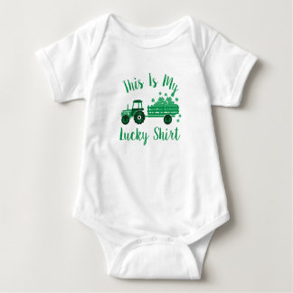 This Is My Lucky Shirt Tractor St Patrick's Day