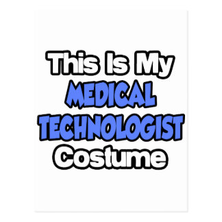This Is My Medical Technologist Costume Postcard