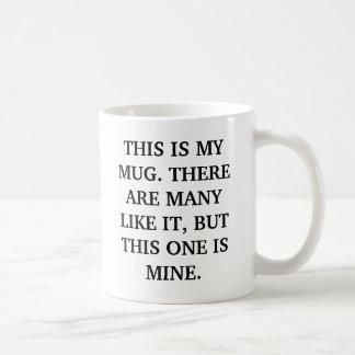 THIS IS MY MUG... COFFEE MUG