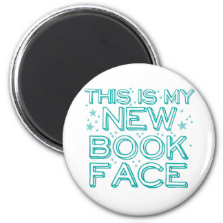 this is my new book face 2 inch round magnet