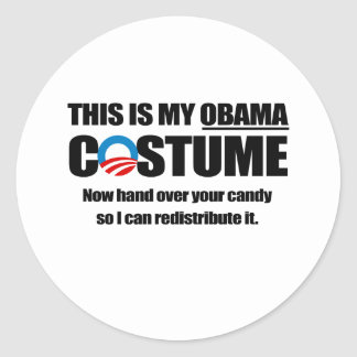 This is my Obama Costume Classic Round Sticker