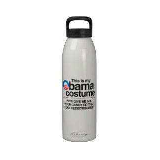 THIS IS MY OBAMA COSTUME NOW GIVE ME YOUR CANDY DRINKING BOTTLES