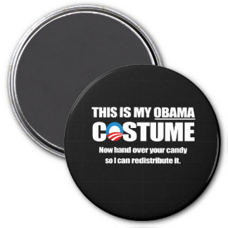 This is my Obama Costume white 3 Inch Round Magnet