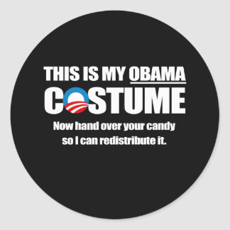 This is my Obama Costume white Round Sticker