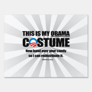 This is my Obama Costume Lawn Sign