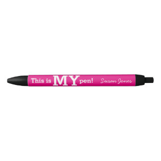 This is MY pen unique and funny office gift pink