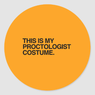 THIS IS MY PROCTOLOGIST COSTUME - Halloween -.png Stickers