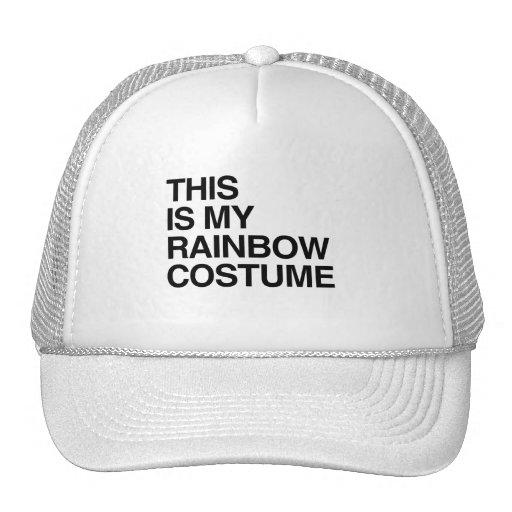 THIS IS MY RAINBOW HALLOWEEN COSTUME TRUCKER HAT