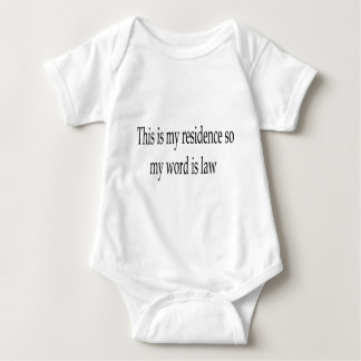 This is my residence apparel baby bodysuit