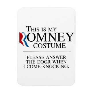 THIS IS MY ROMNEY COSTUME PLEASE ANSWER THE DOOR.p Rectangular Photo Magnet