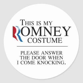 THIS IS MY ROMNEY COSTUME PLEASE ANSWER THE DOOR.p Stickers