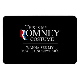 THIS IS MY ROMNEY COSTUME WANNA SEE MY MAGIC UNDER RECTANGULAR PHOTO MAGNET