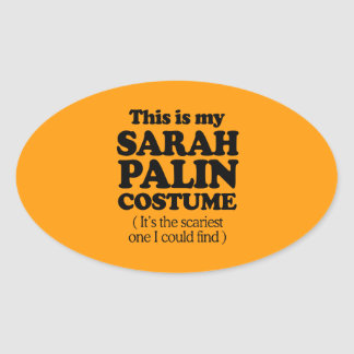 THIS IS MY SARAH PALIN COSTUME - Halloween -.png Oval Sticker