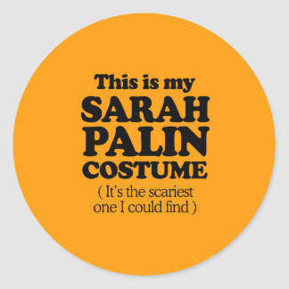 THIS IS MY SARAH PALIN COSTUME - Halloween -.png Classic Round Sticker