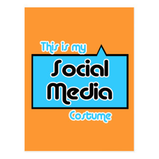 THIS IS MY SOCIAL MEDIA COSTUME POSTCARD