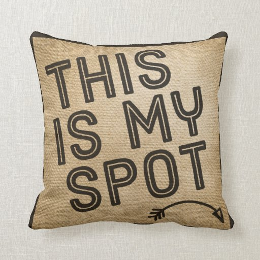 Throw Pillows Spotlight : This is my Spot Burlap Throw Pillow Zazzle
