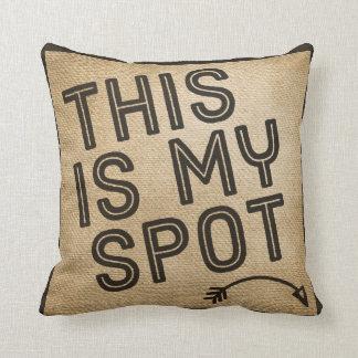 This is my Spot Burlap Throw Pillow