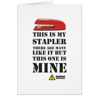 This is My Stapler by GeekZone Card