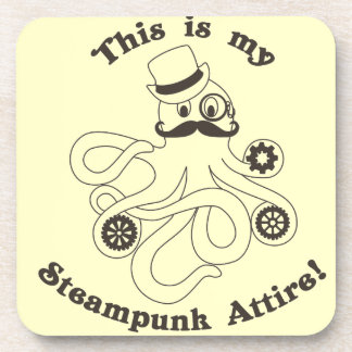 This IS my Steampunk Attire Beverage Coaster