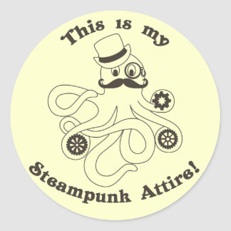 This IS my Steampunk Attire Classic Round Sticker