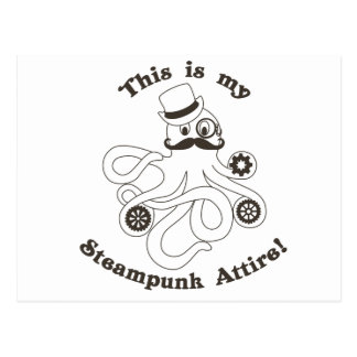 This IS my Steampunk Attire Postcard