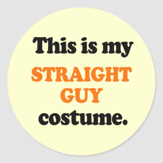 This is my Straight Guy Costume Classic Round Sticker