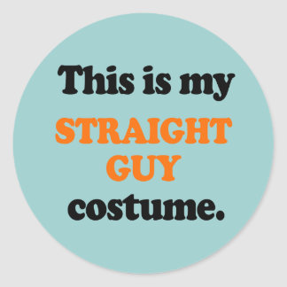 This is my Straight Guy Costume Round Sticker