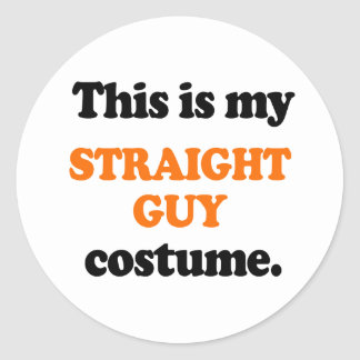 This is my Straight Guy Costume Round Stickers