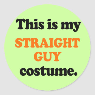 This is my Straight Guy Costume Stickers