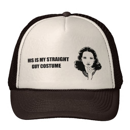 This is my straight guy costume trucker hat