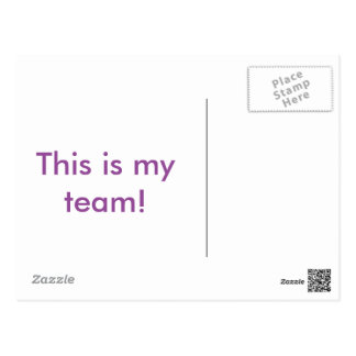 This is my team! postcard
