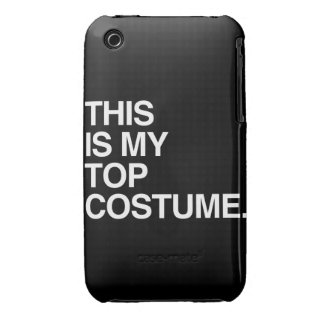 THIS IS MY TOP COSTUME iPhone 3 COVER