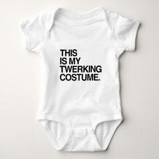 THIS IS MY TWERKING COSTUME BABY BODYSUIT