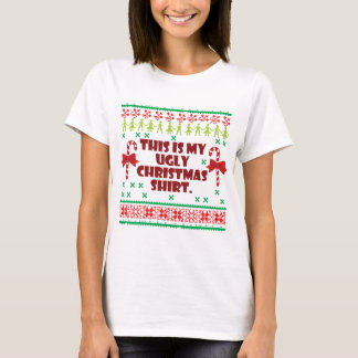 Ugly christmas t shirts shirt designs zazzle for Tacky t shirt ideas