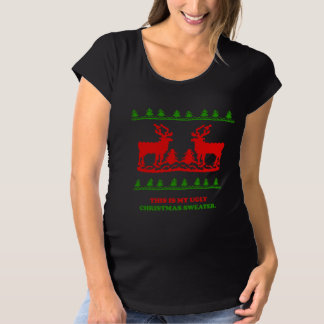 Ugly Christmas Sweater Maternity Shirts & Tops | Zazzle