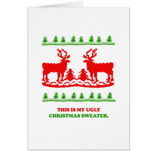 This is my ugly Christmas Sweater Greeting Cards
