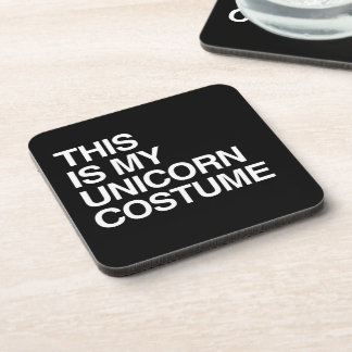 THIS IS MY UNICORN HALLOWEEN COSTUME DRINK COASTER