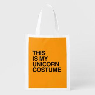 THIS IS MY UNICORN HALLOWEEN COSTUME - Halloween - Reusable Grocery Bag