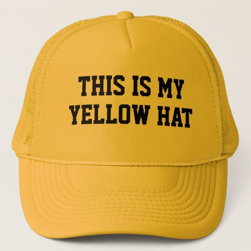 THIS IS MY YELLOW HAT Man in Hat Costume
