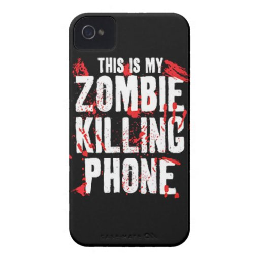 This is My Zombie killing Phone keep calm and kill Case-Mate iPhone 4 Cases