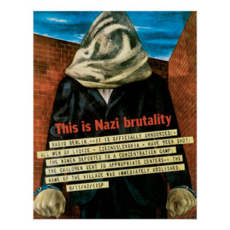 This Is Nazi Brutality Poster
