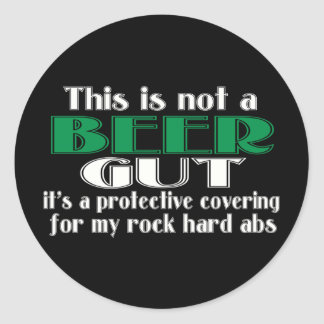 This is not a BEER GUT Classic Round Sticker