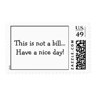 This is not a bill...postage stamps