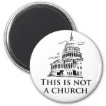 this is not a church 2 inch round magnet