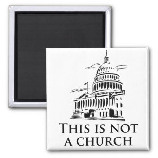 this is not a church 2 inch square magnet