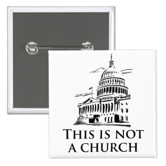 This is not a church pinback button